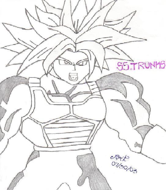 Trunks Super Saiyan Drawings. super saiyan trunks by