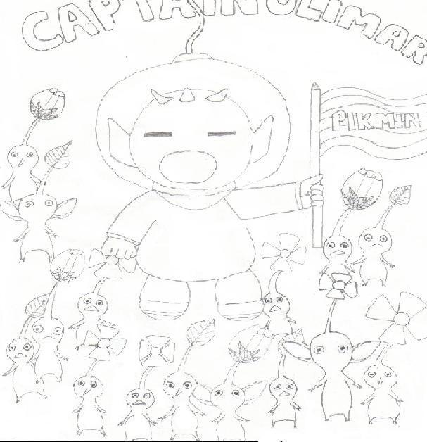 captain olimar and his pikmin by gokuthemighty