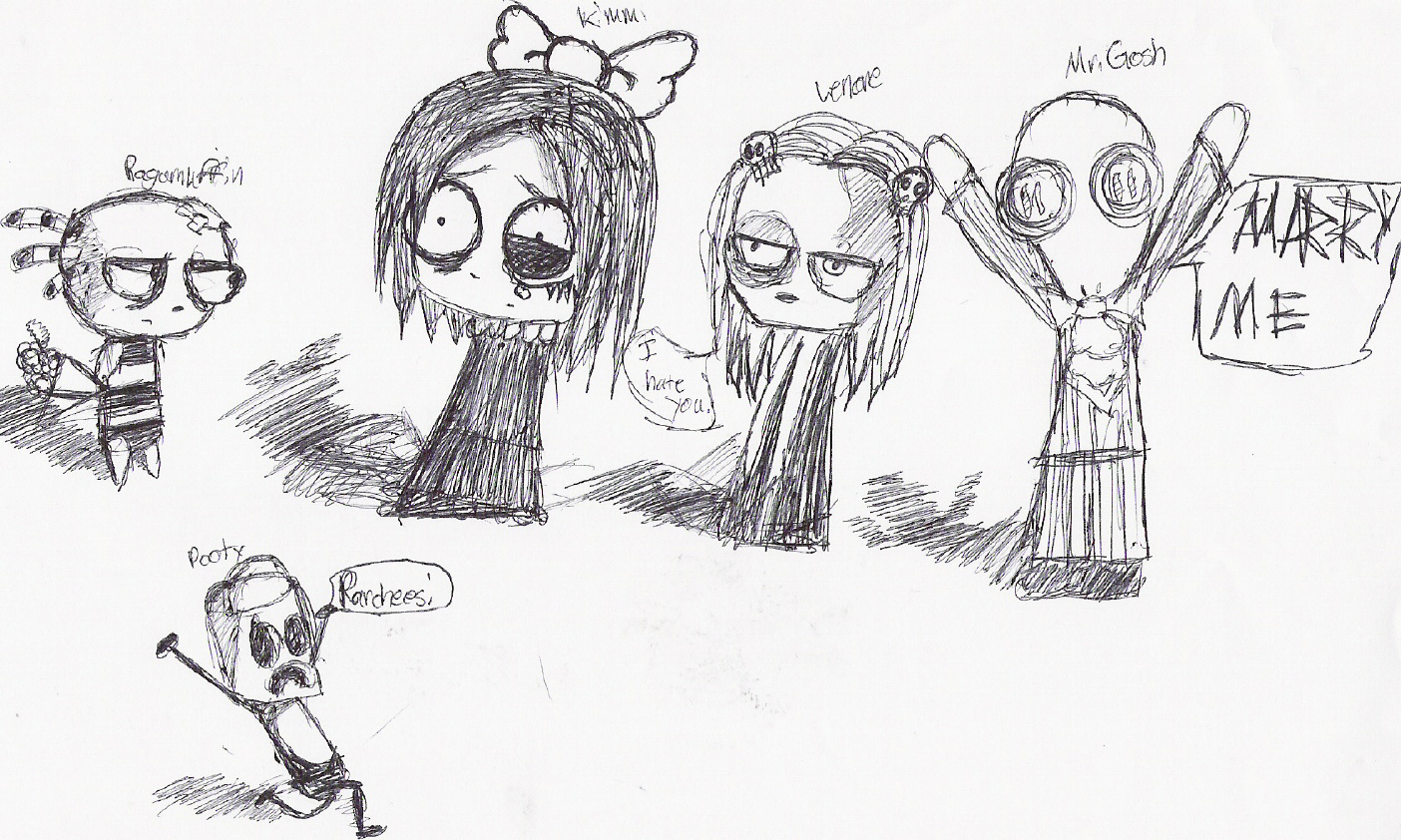 Lenore and Fiends... by gothic_genie