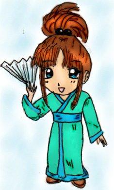 Chibi in Kimono by gothicmermaid05