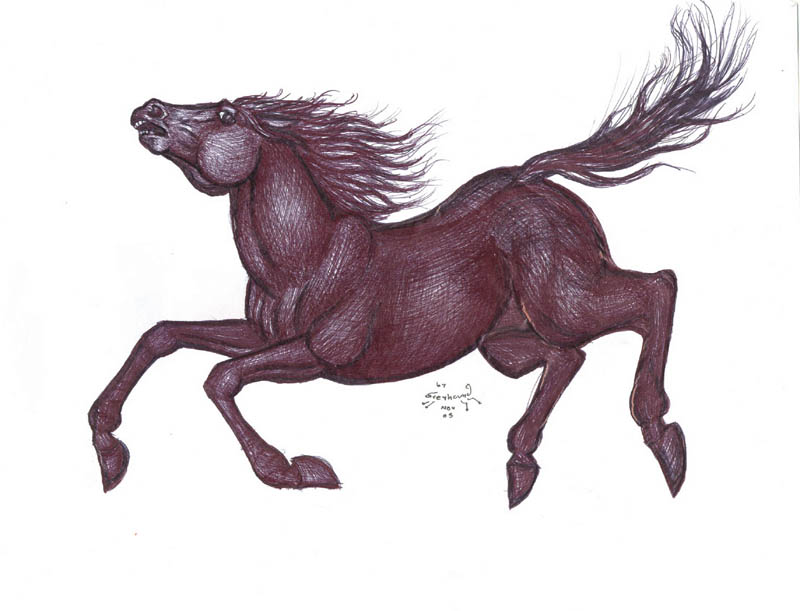 Falling Horse by greyhound