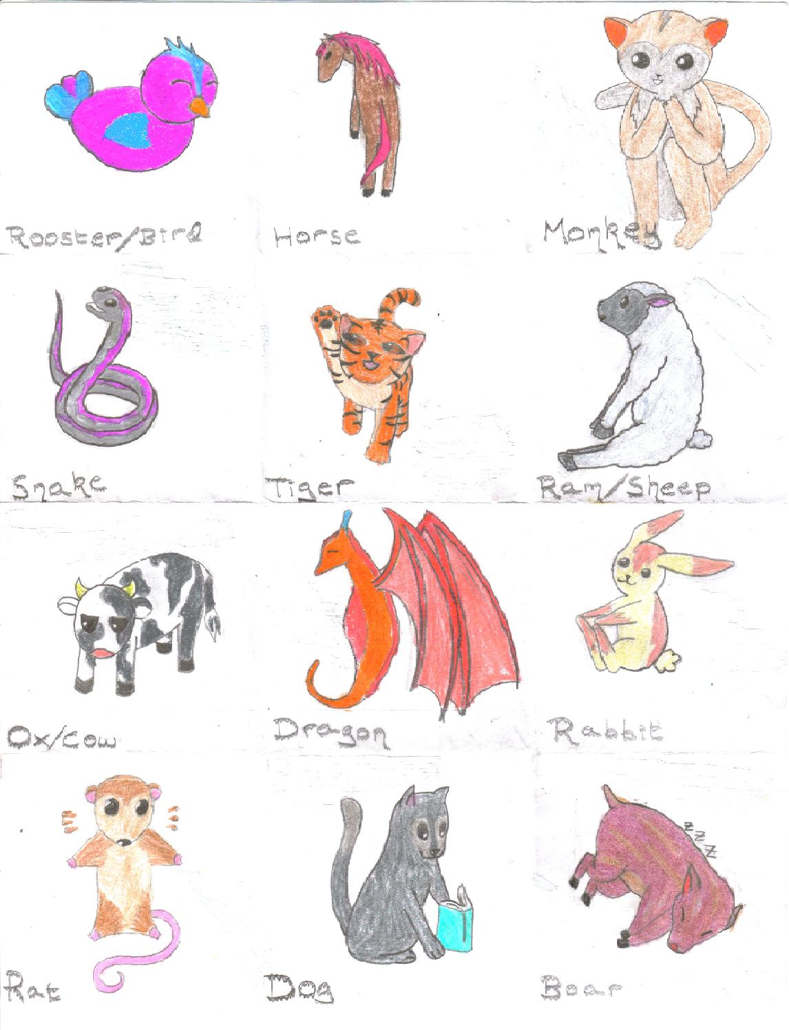 Chinese Zodiac Adoption by Hamstar27