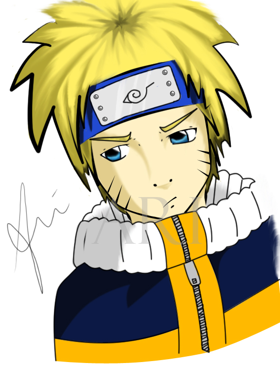 Naruto Uzumaki Colored by HatefulMirrors