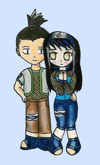 Shikamaru and Yuki(Art-trade with Torchic1030) by Haunted-Flower