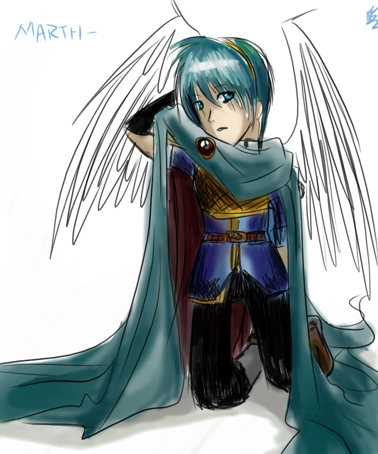 Marth Doodle. :3 by Heathere