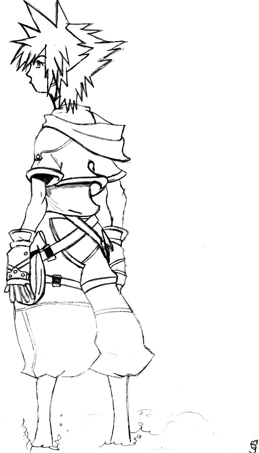 Sora from KH2 by Heiduska