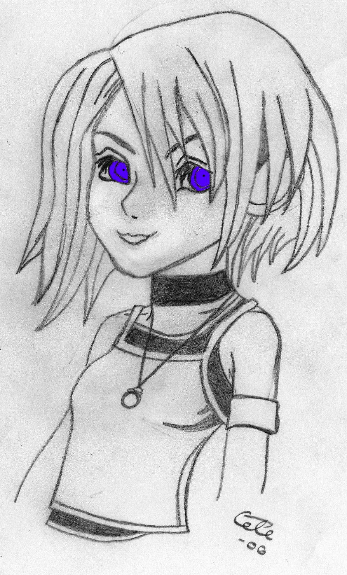 Kairi, coloured eyes by Heiduska