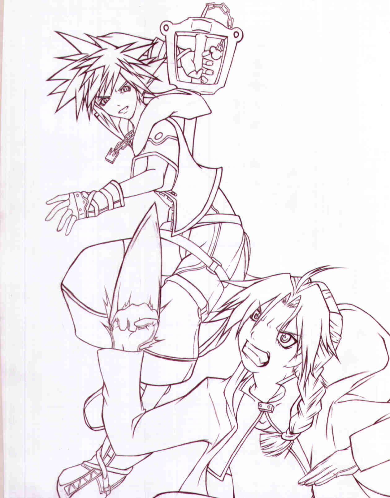 FMAxKH2 Keybearer vs Fullmetal by Hikari-Sora1
