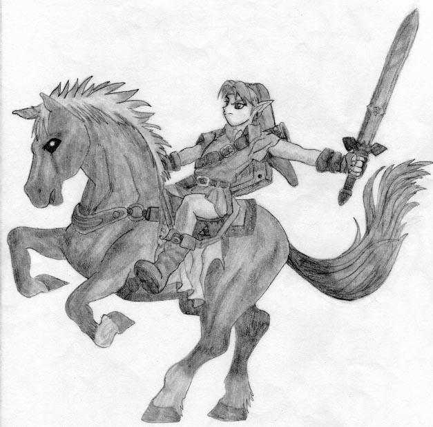 Link and Epona by Hikyuu