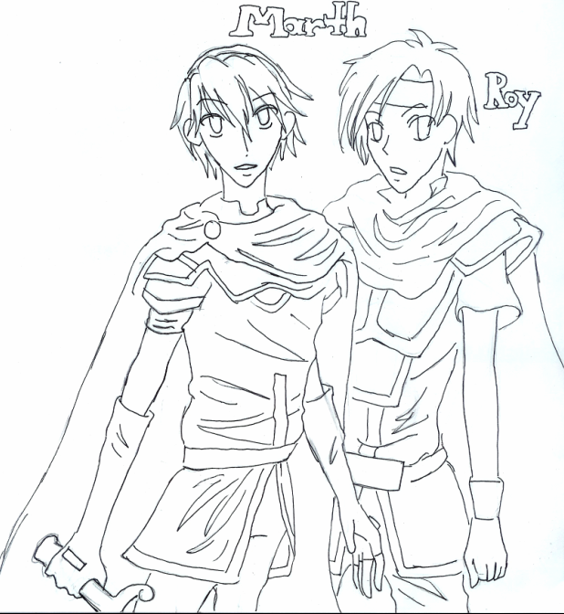 Marth and Roy by HotaruMyst