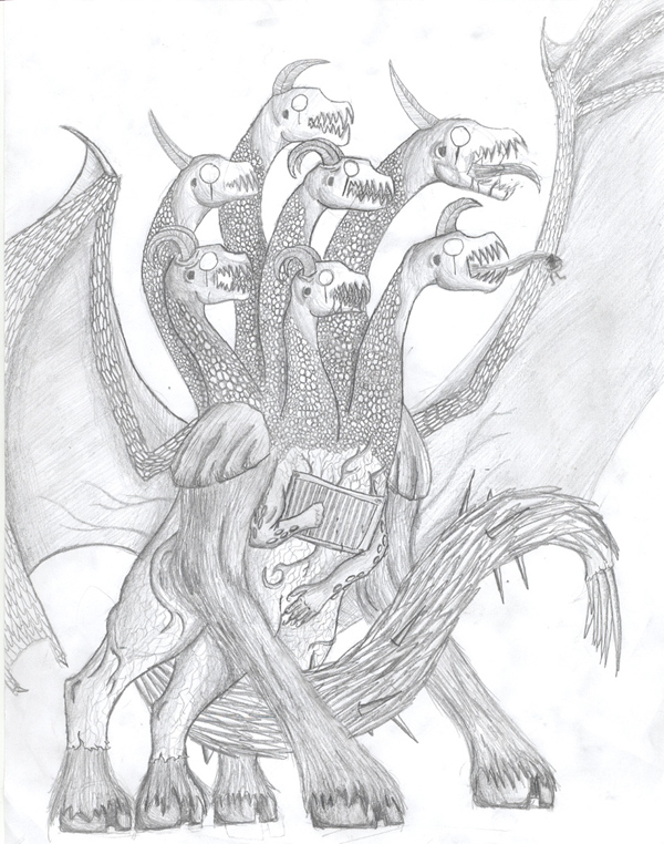 Demonic Hydra by Hresvelgr