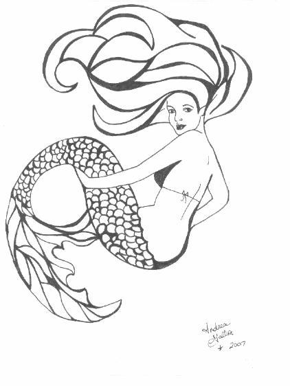 mermaid tattoo design by hurricanecoming fanart central. Black Bedroom Furniture Sets. Home Design Ideas