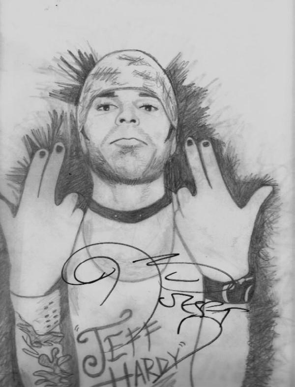 Jeff Hardy *autographed drawing* by HurricaneComing