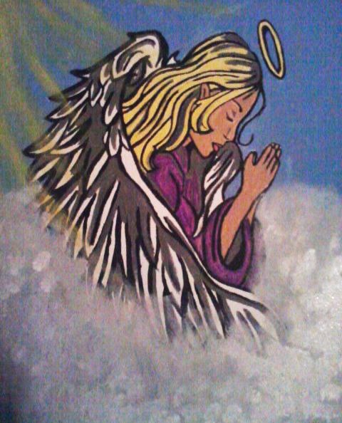 Guardian Angel Painting by HurricaneComing