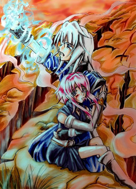 Genis and his beloved one by Hyacinthley