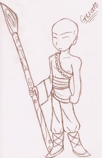 Chibi-ish Guan by Hybrid_Sunshine