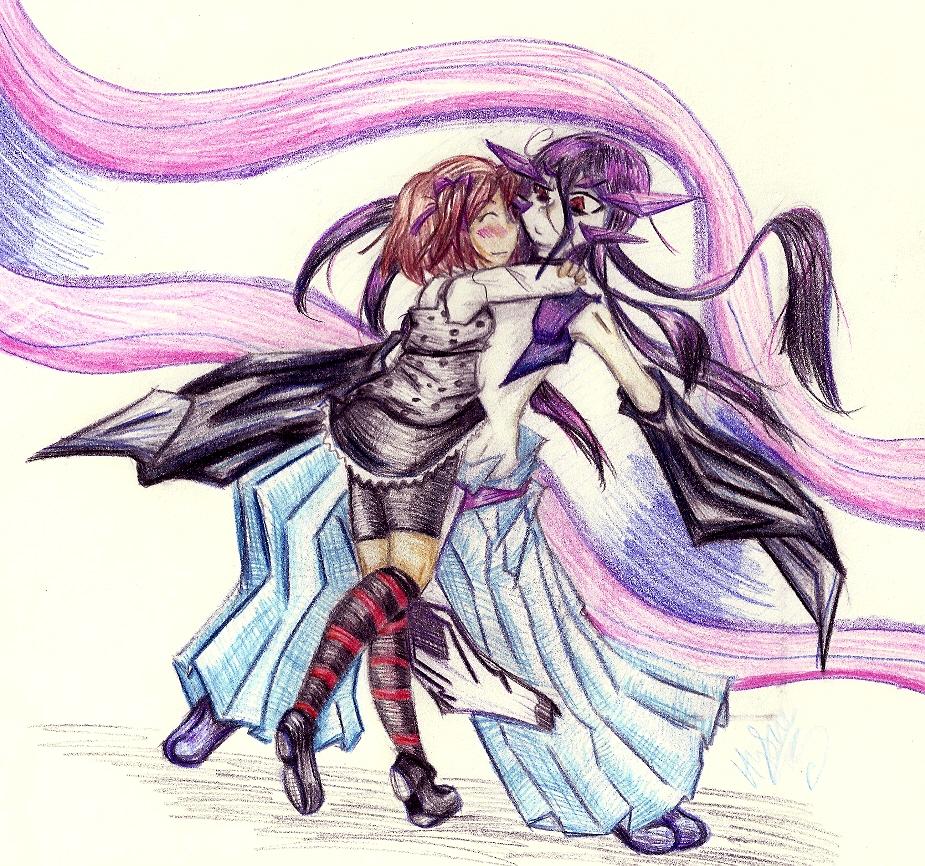 Haunted-Flower Hugging Jealousy (art trade) by Hybrid_Sunshine