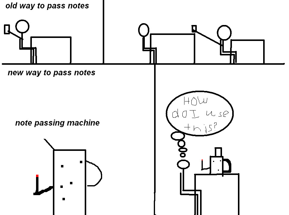 note passing machine by halo6