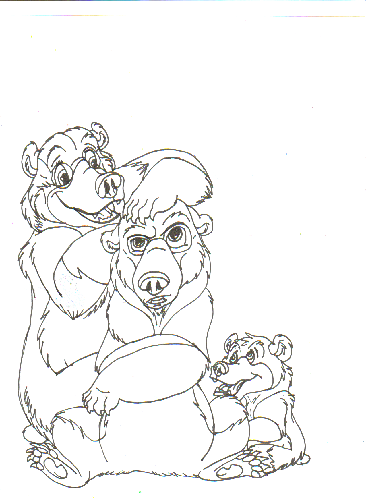 Me, Kenai, and Koda WIP by hawaiifan