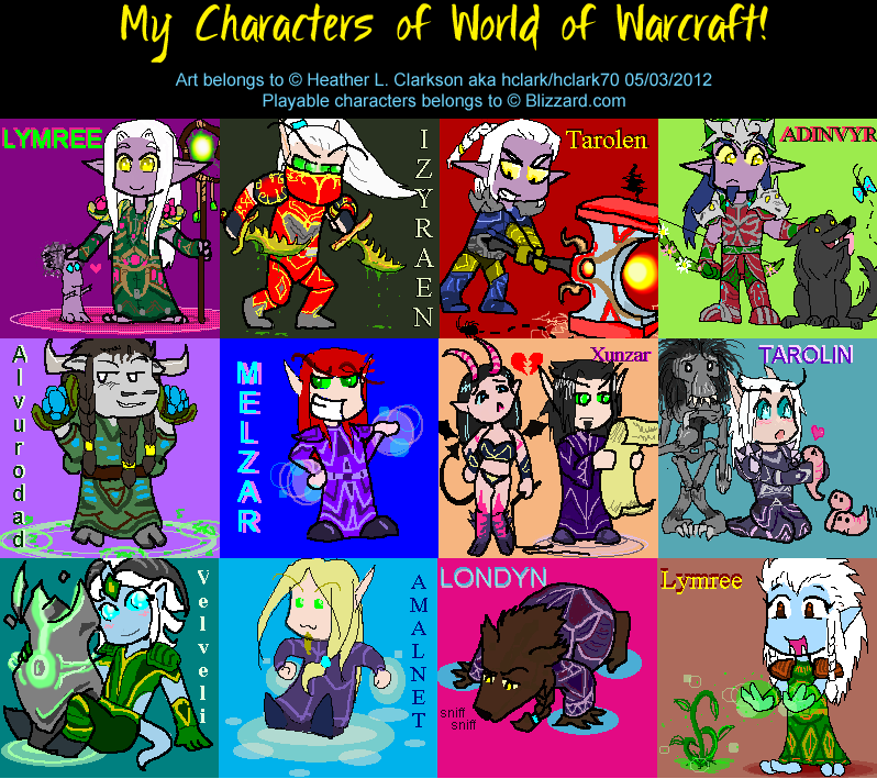 My chibi characters of WoW by hclark