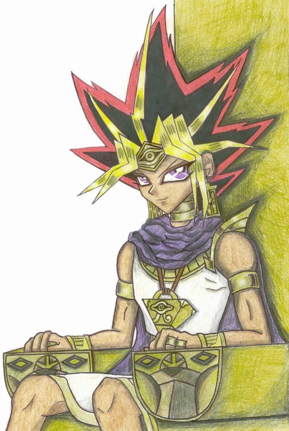 Art Trade for Lex *Pharaoh Atem* by hellpoemer