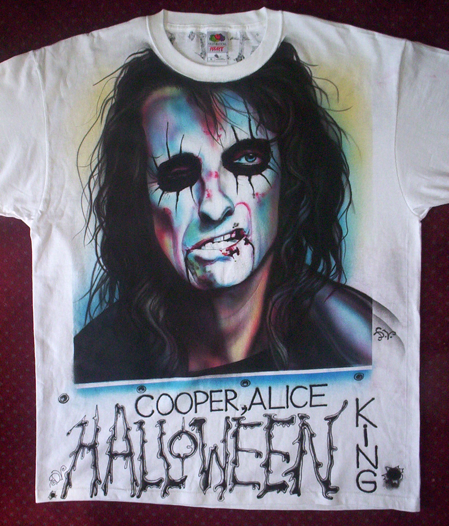 Airbrushed tshirt by hotleather