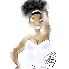 Thick black princess by Iamphotoshop