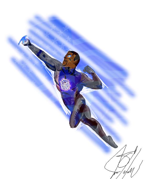 Obama as a superhero by Iamphotoshop