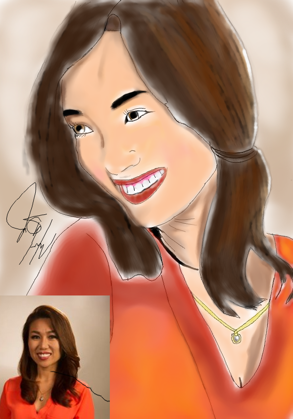 Sula Kim drawing by Iamphotoshop