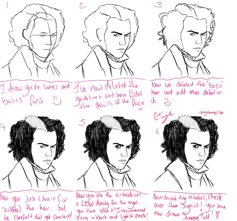 How I Draw Sweeney Todd by Ichabod_Crane96