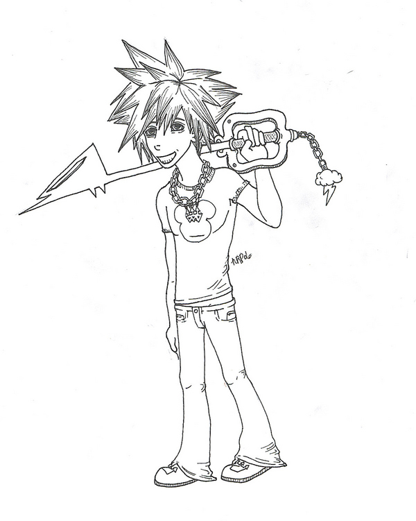 cracked out sora by If_Looks_Could_Kill
