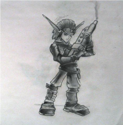 Jak II Sketch by ImmortalElf