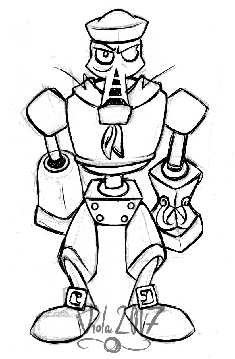 Henchman 1000 in a sailor uniform (sketch) by IndianaViola