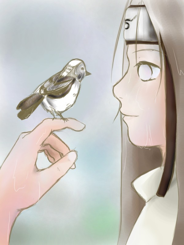 Neji and The Bird by InoShikaChouj98
