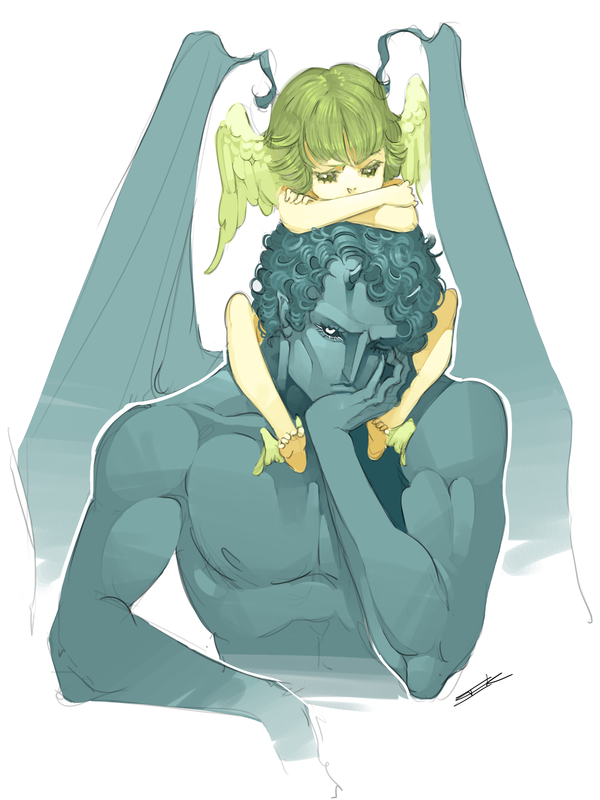 Icarus and Achilles by Issy