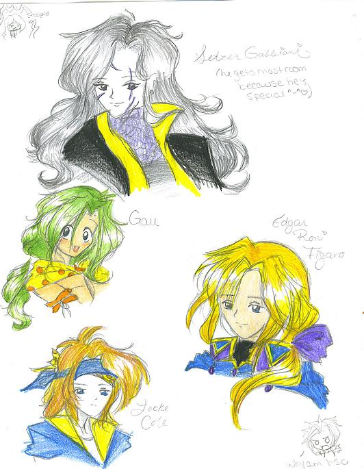 Random Final Fantasy 6 people by Itachilovesme912