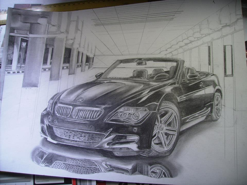 Car Drawing 1: WIP by i77310