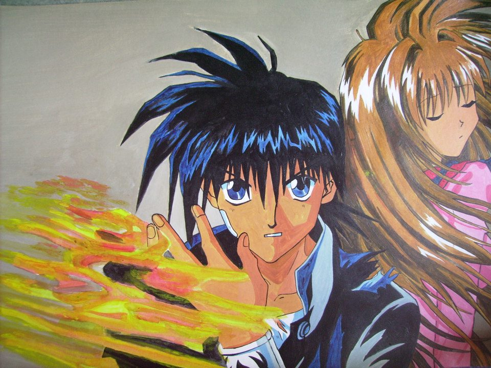 Flame Of Recca Painting by i77310