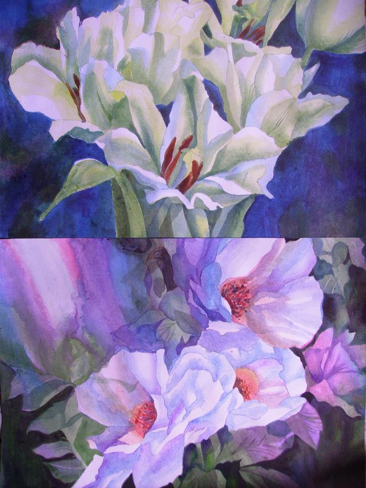 Flowers Painting 1 by i77310