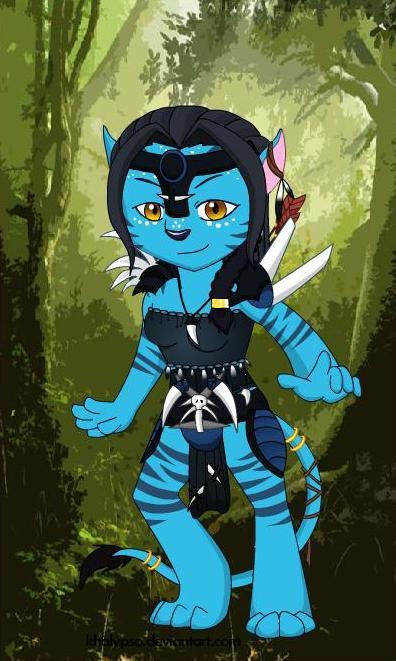 My Na'vi avatar OC by icestorm