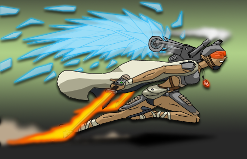 steam jet pack warrior by infurno