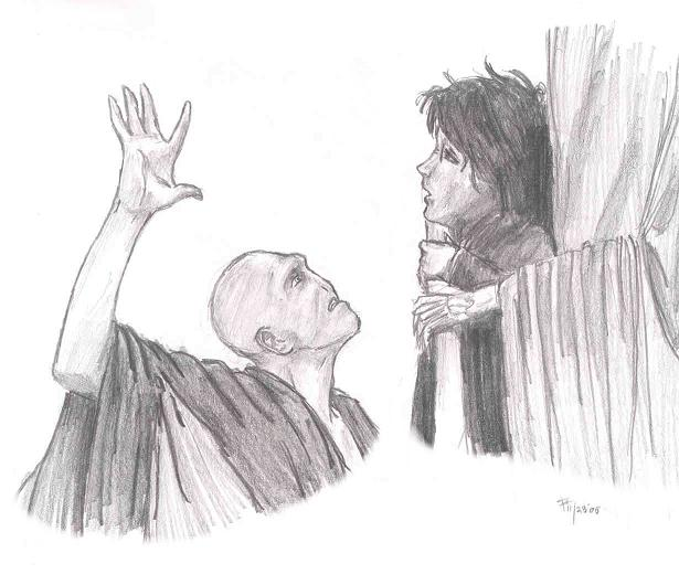 Spoiler! Voldemort touching harry's scar by ivygreane
