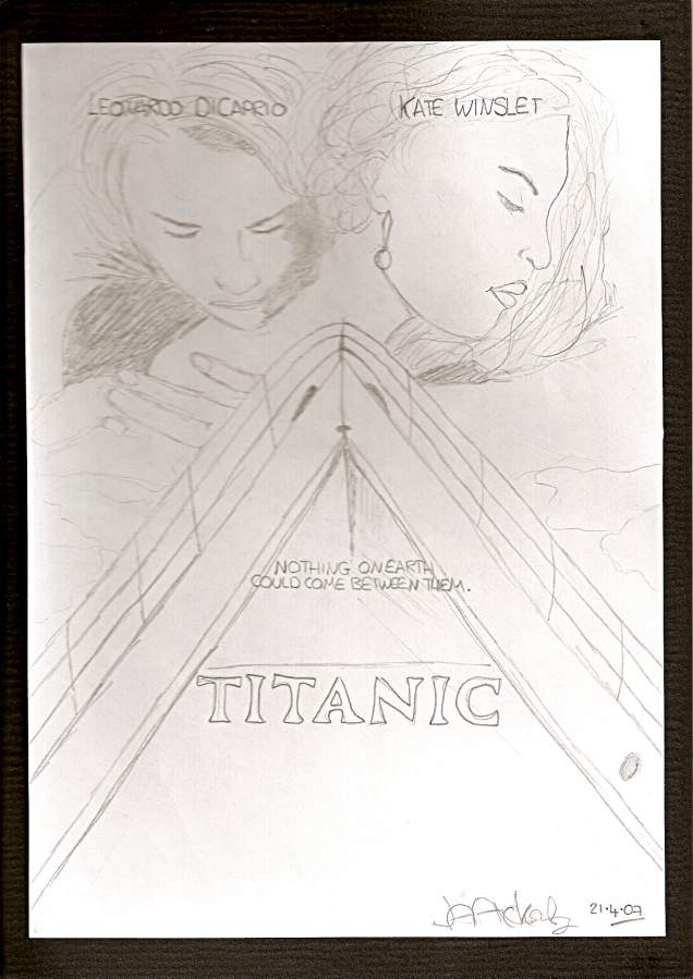 Jack and Rose-Titanic Movie Poster by JDawson