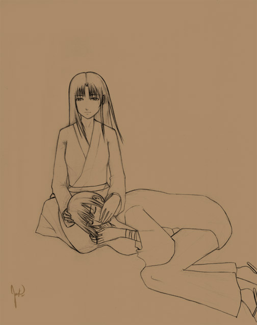 Kenshin and Kaoru by Jack1
