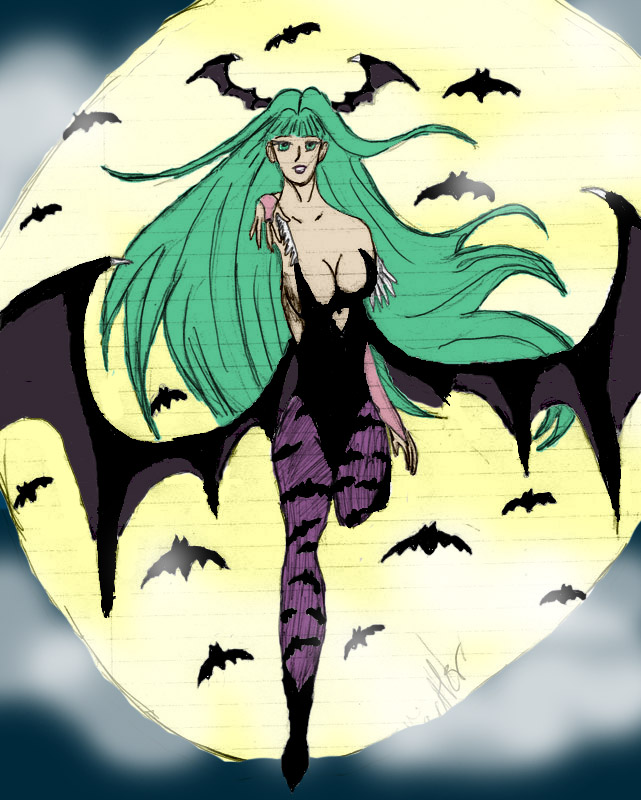 Morrigan (color) by JadeBloom1