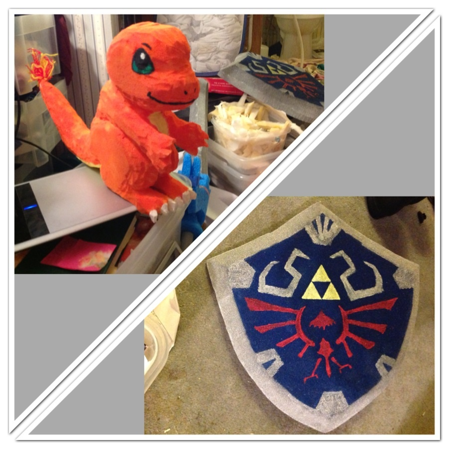 charmander and links shield by Jadis