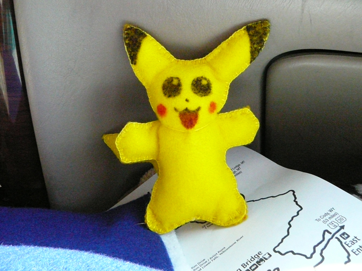 pikachu felt stuffed toy by Jadis