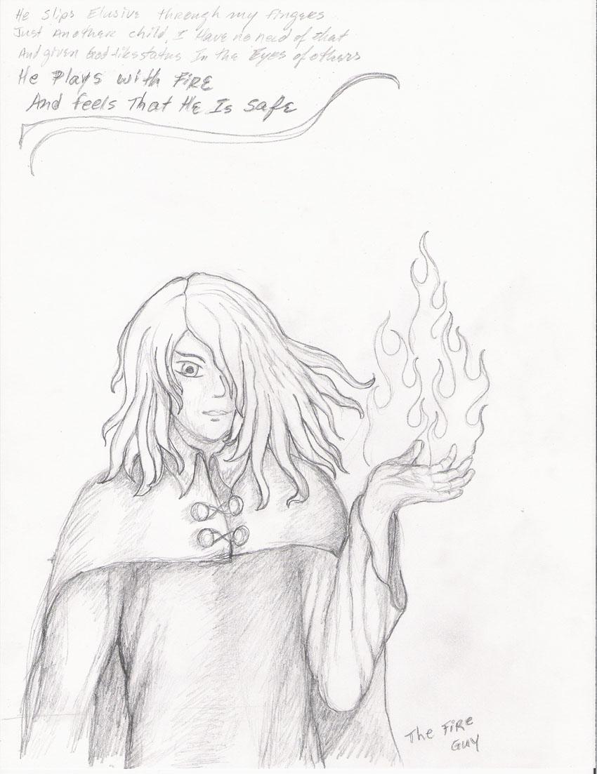 Oscar Immanuel pencil sketch by Jadis