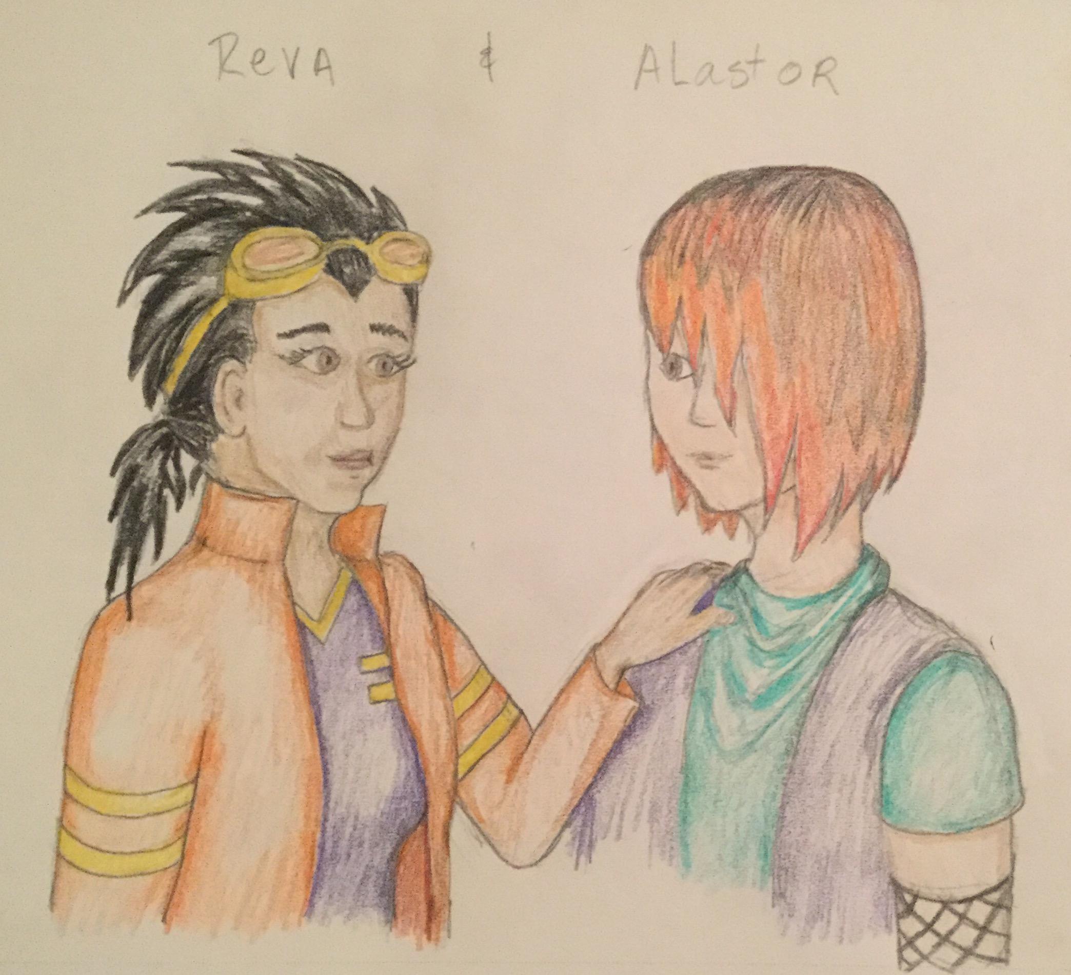 Reva And Alastor by Jadis
