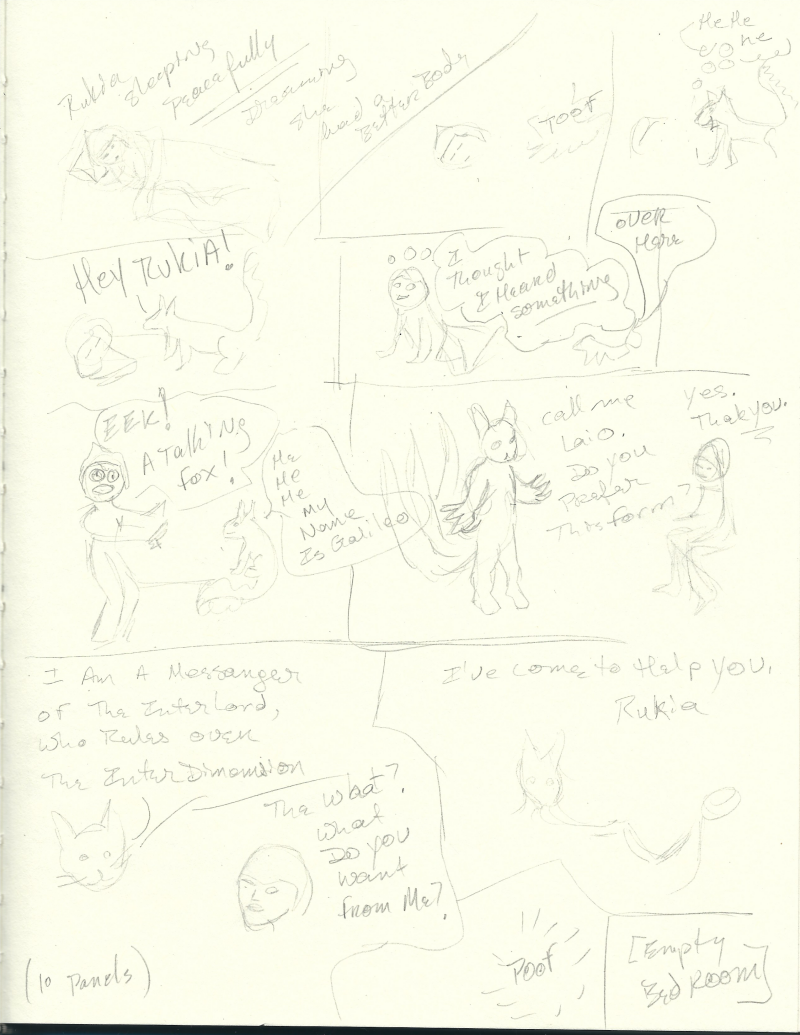 Rukia transformation story sketch by Jadis
